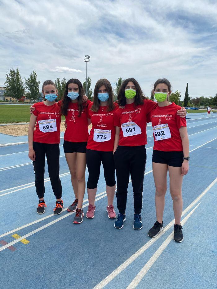 Las deportistas Sub16 del Club Atletismo Jaca, cuartas en el Campeonato Provincial por equipos