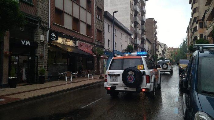 Simulacro de emergencia química en Sabiñánigo. (FOTO: Anna Artiza)