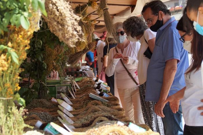 Público y expositores han recibido con ilusión la Feria de la Primavera de Biescas. (FOTO: Rebeca Ruiz)