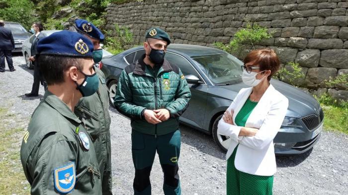 La directora general de la Guardia Civil conoce el Servicio de Montaña y la Compañía de Jaca. (FOTO: Guardia Civil)