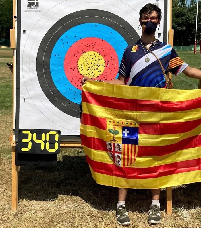 El serrablés Ibón Rufas, Campeón de España y plusmarca nacional DC1 en tiro con arco