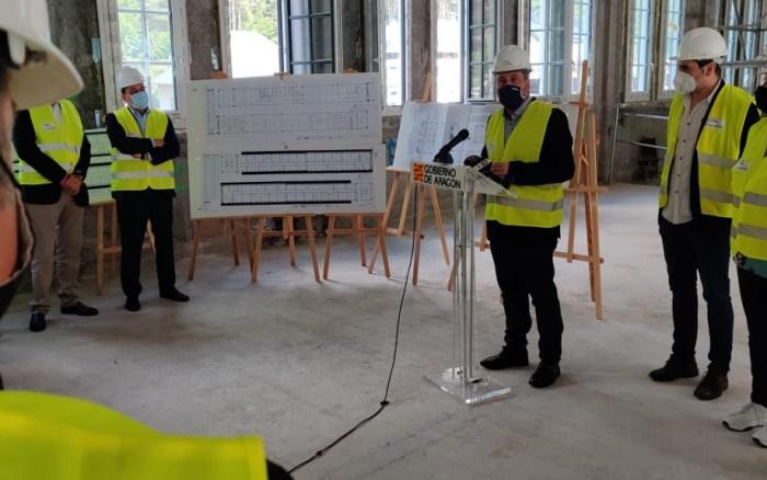 Comienzan las obras en el interior de la Estación de Canfranc para convertirlo en un gran hotel. (FOTO: Gobierno de Aragón)