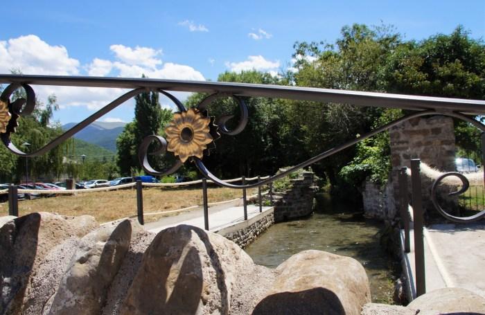 Detalle del puente del lavadero de Biescas. (FOTO: Rebeca Ruiz)