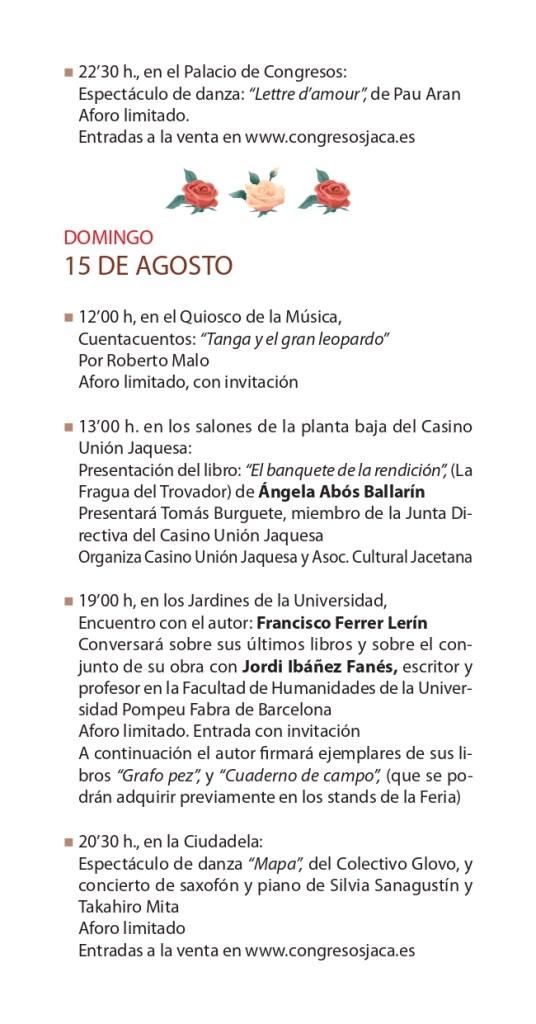 Vuelve la Feria del Libro de Jaca en 'versión original' al Paseo de la Constitución