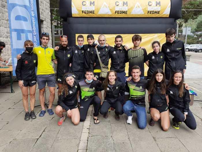 El equipo aragonés de Carreras por Montaña brilla en la Copa de España de KV de Canfranc. (FOTO: FAM)