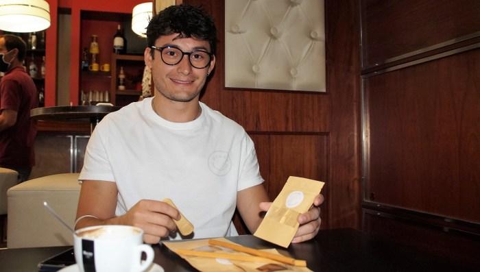 Gloop, la revolución de los cubiertos comestibles con ADN jaqués. (FOTO: Rebeca Ruiz)