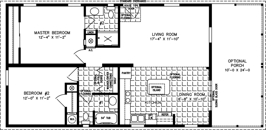 Two Bedroom Mobile Home Floor Plans