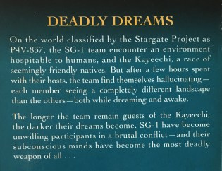 A synopsis of the Stargate SG-1 tie-in novel The Morpheus Factor by Ashley McConnell