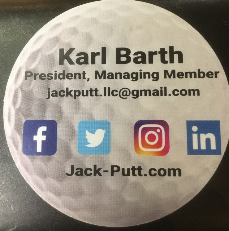 Back of Jack-Putt Unique Business Card