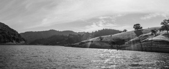 lake sonoma from kayak