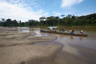 Campement le long du rio