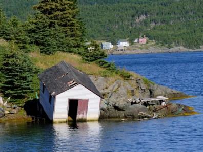 La maison penchée côte est de Terre-Neuve