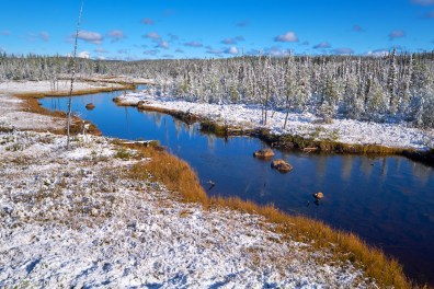 La route nord du Labrador mi-septembre
