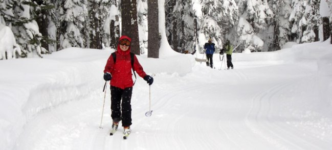 Cross country skiing from last year's meetup
