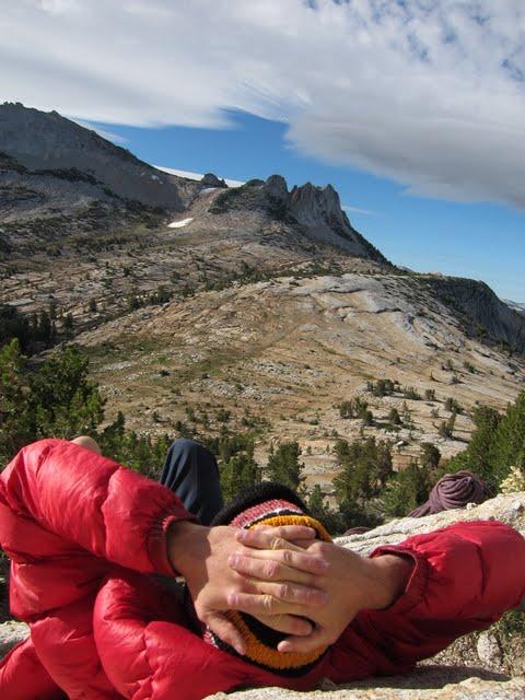 Waiting to climb, Cathedral Peak, Yosemite