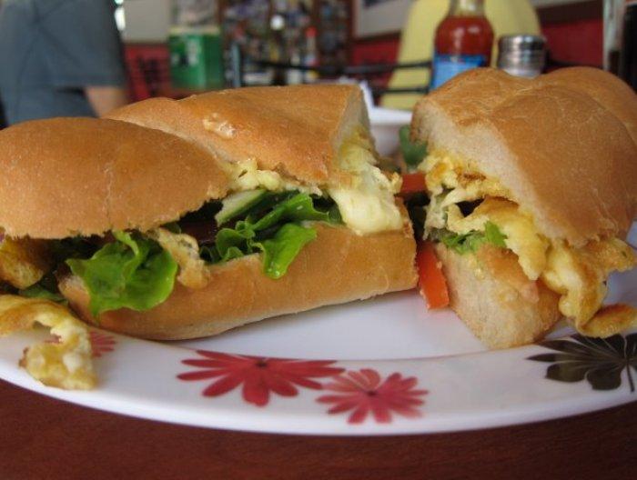 Blah blah's vegetarian sandwich