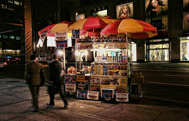 A typical New York Street vendor