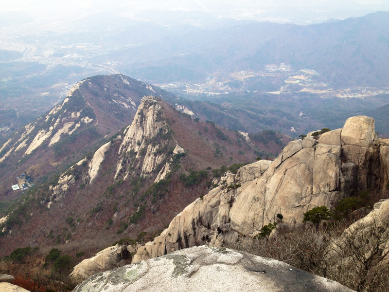 Scary Little Girl Wallpaper Hiking The Highest Peak Of Mt Bukhansan
