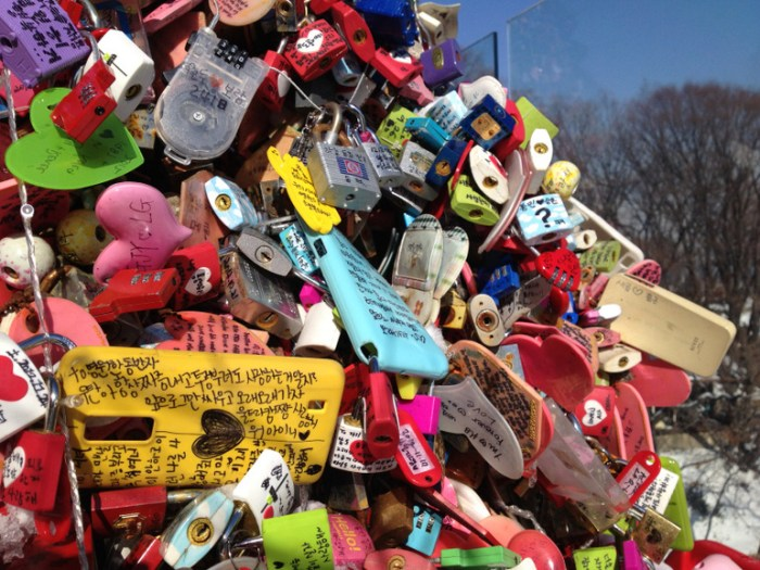 Thousands of locks left behind at N Seoul Tower