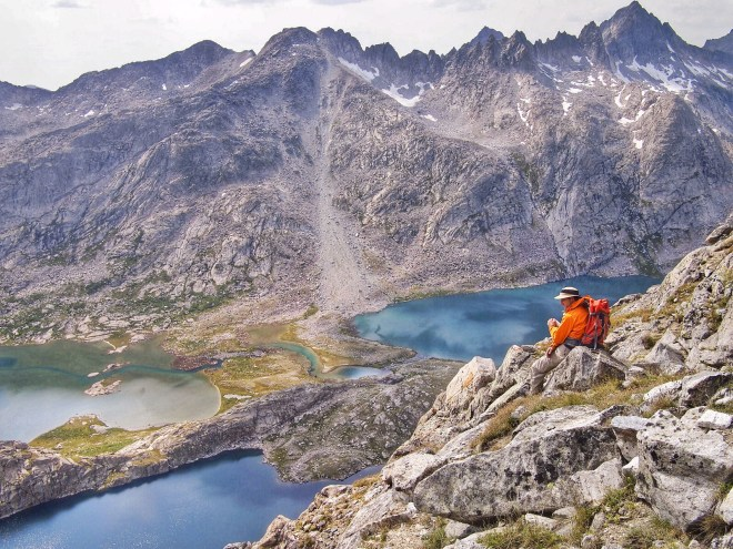 Look at that unbelievable view! Titcomb Basin from Freemont Peak