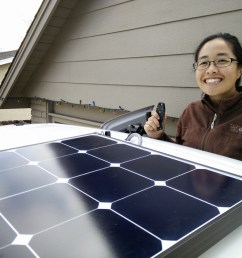 our installed grape solar 100w panel [ 1200 x 890 Pixel ]