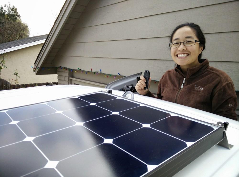 medium resolution of our installed grape solar 100w panel
