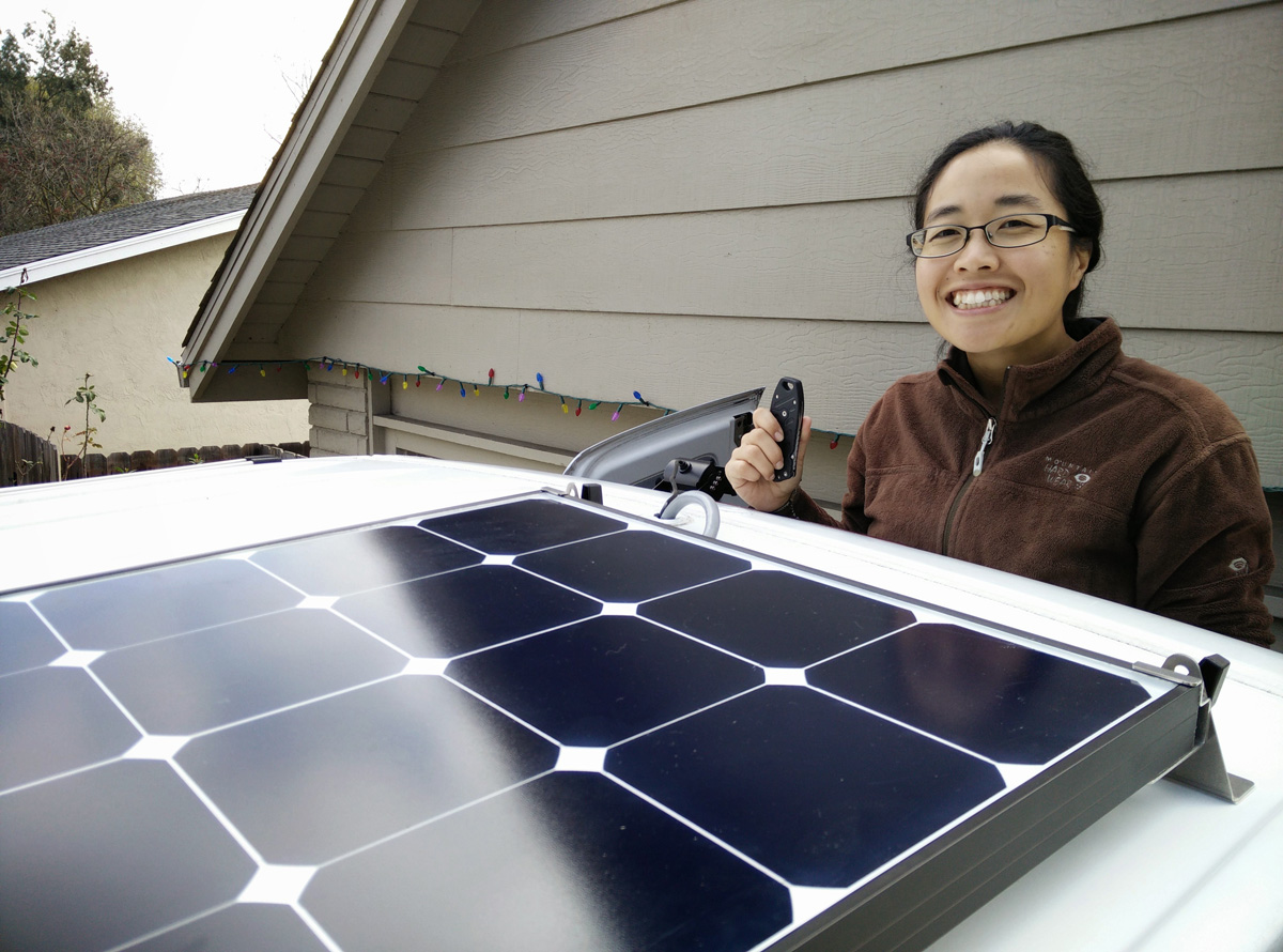 hight resolution of our installed grape solar 100w panel