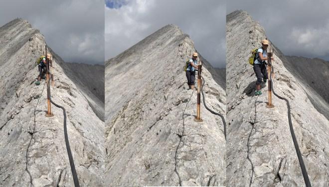 Me navigating Koncheto ridge.