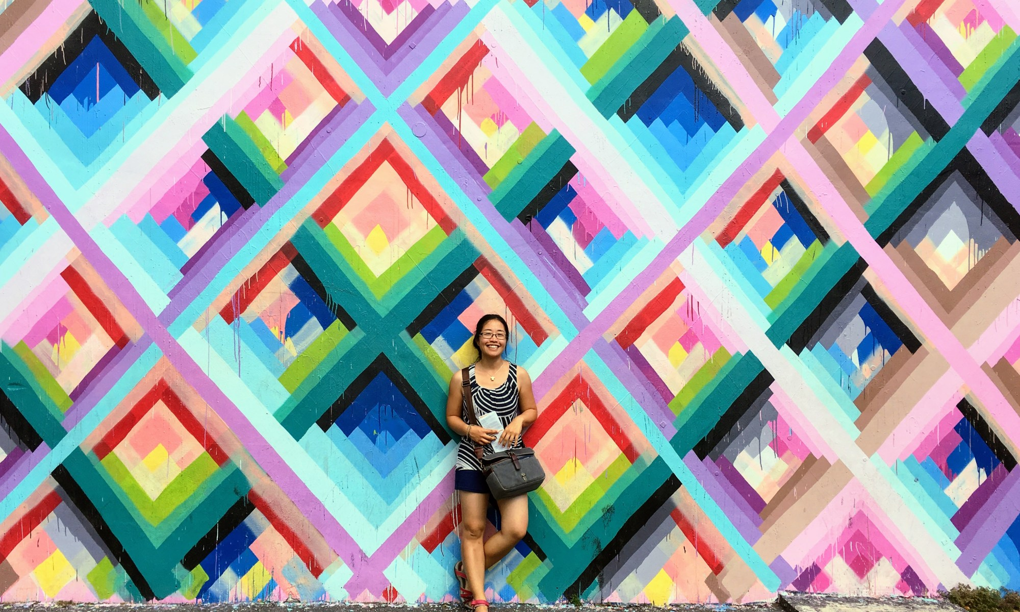 One of the many colorful murals in Wynnwood - love this one for some reason.