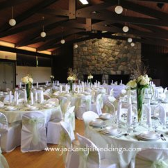 White Chair Sashes Custom Dining Chairs Canada Centennial Lodge – Jack & Jill Weddings