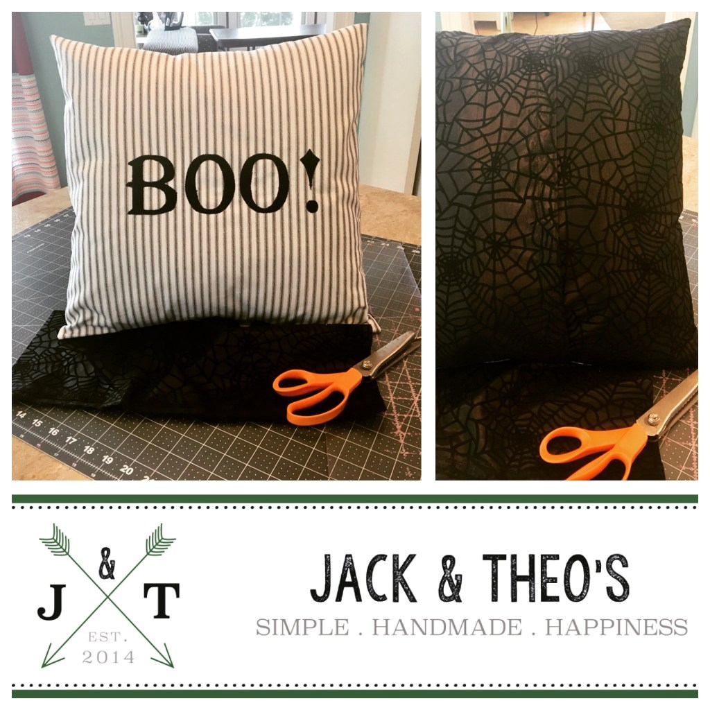 Boo Spiderweb Throw Pillow