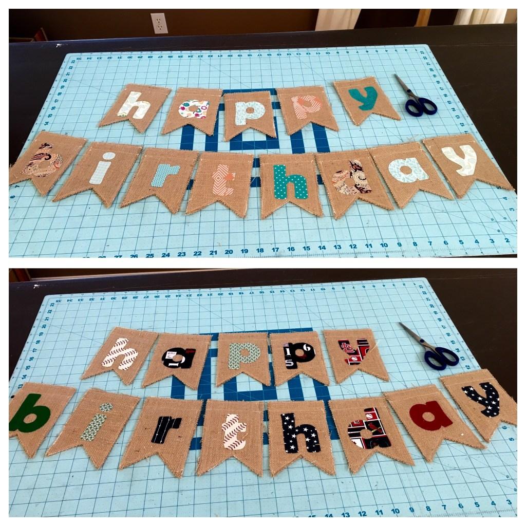 Burlap Happy Birthday Banners