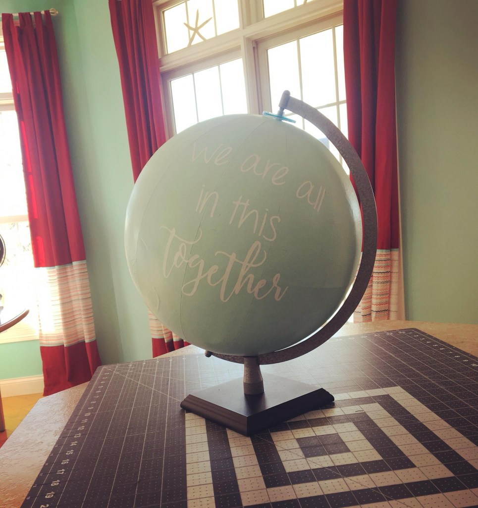 Chalkboard Upcycled Globe