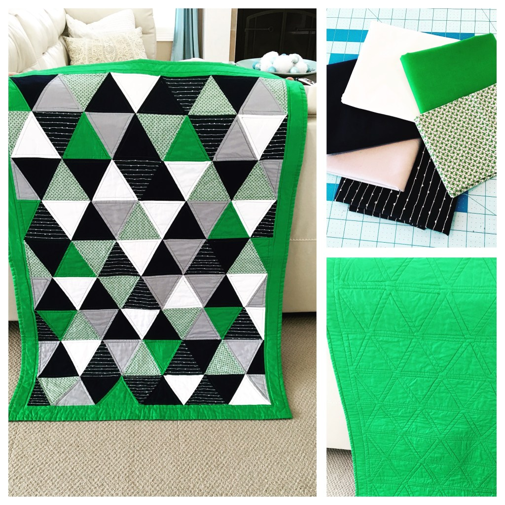 Falling Triangles Baby Quilt
