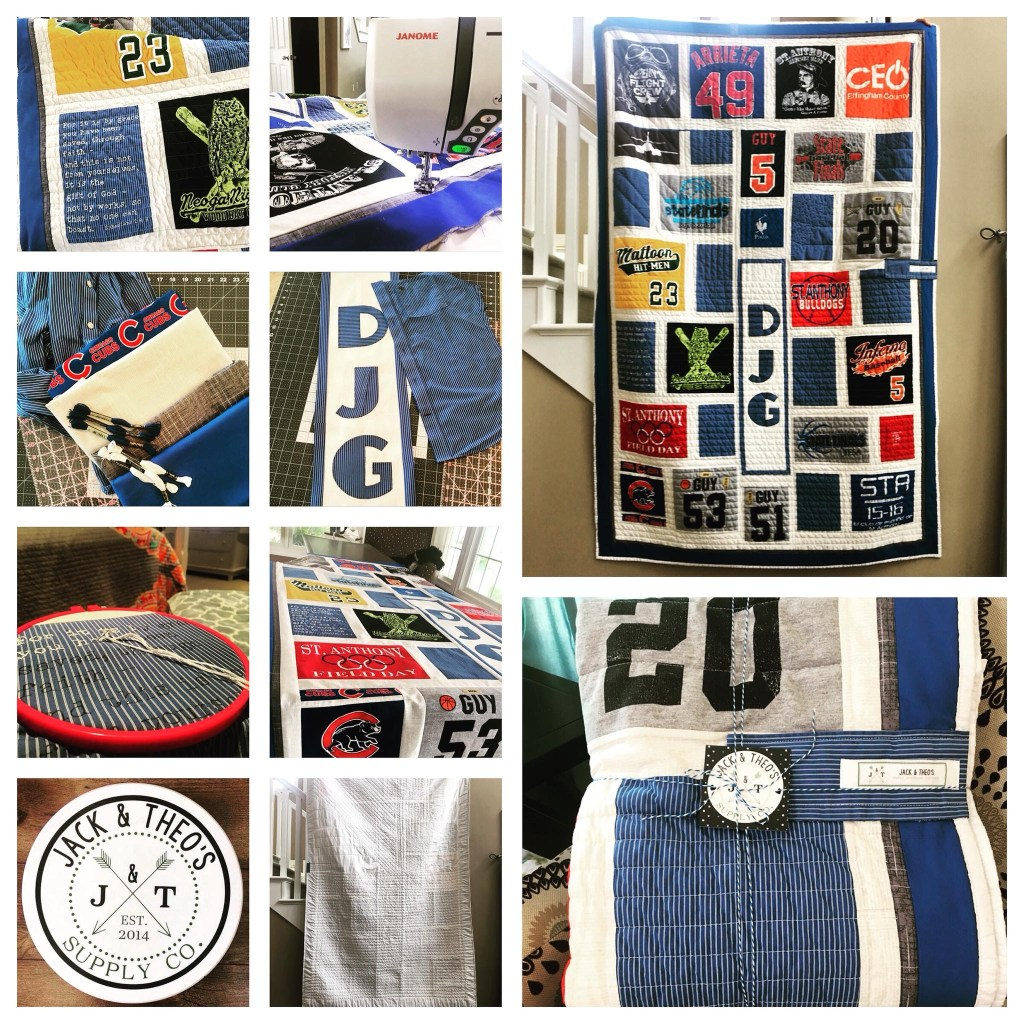 Jacob's Senior Grad T-Shirt Quilt - St. Anthony High School