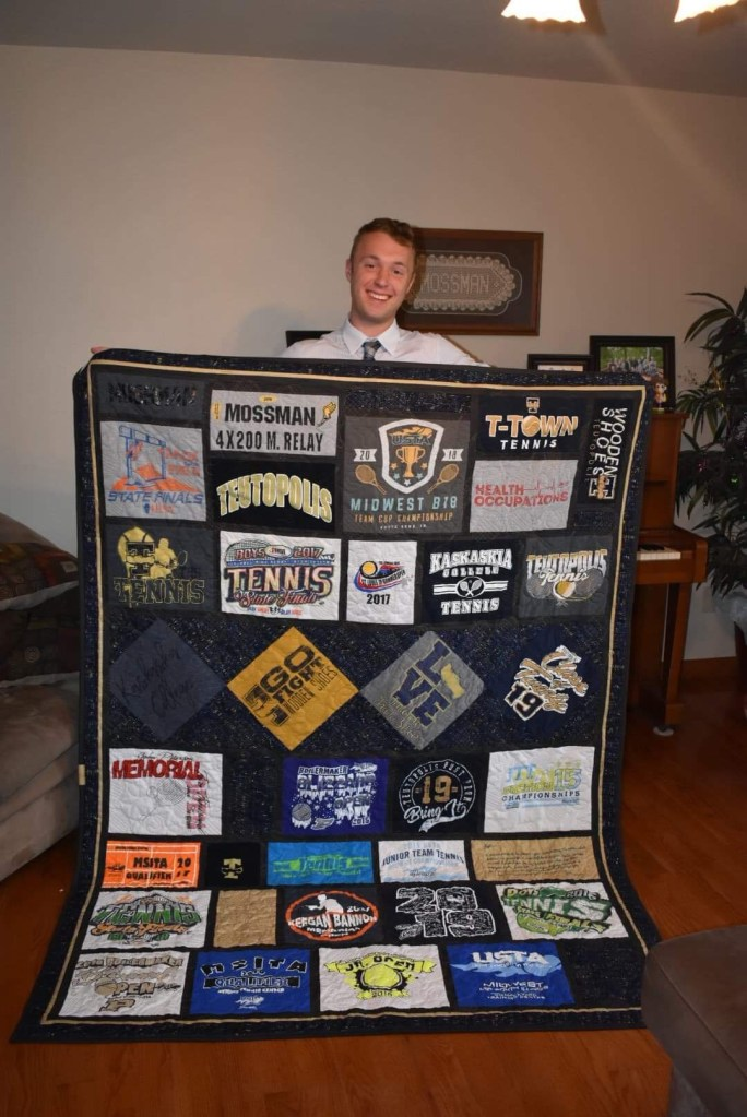 Kyele & his quilt