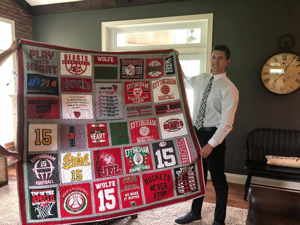 Landon & his quilt!