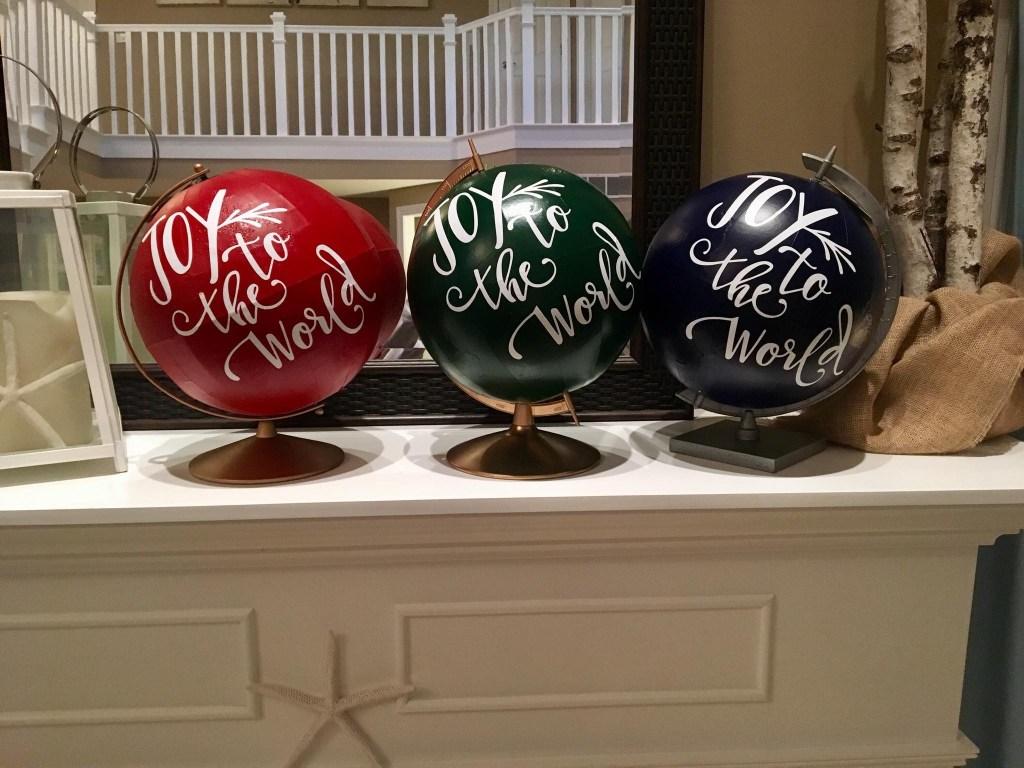 Large Upcycled Globes