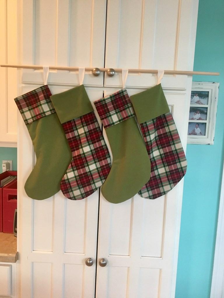 Linen & Plaid stockings