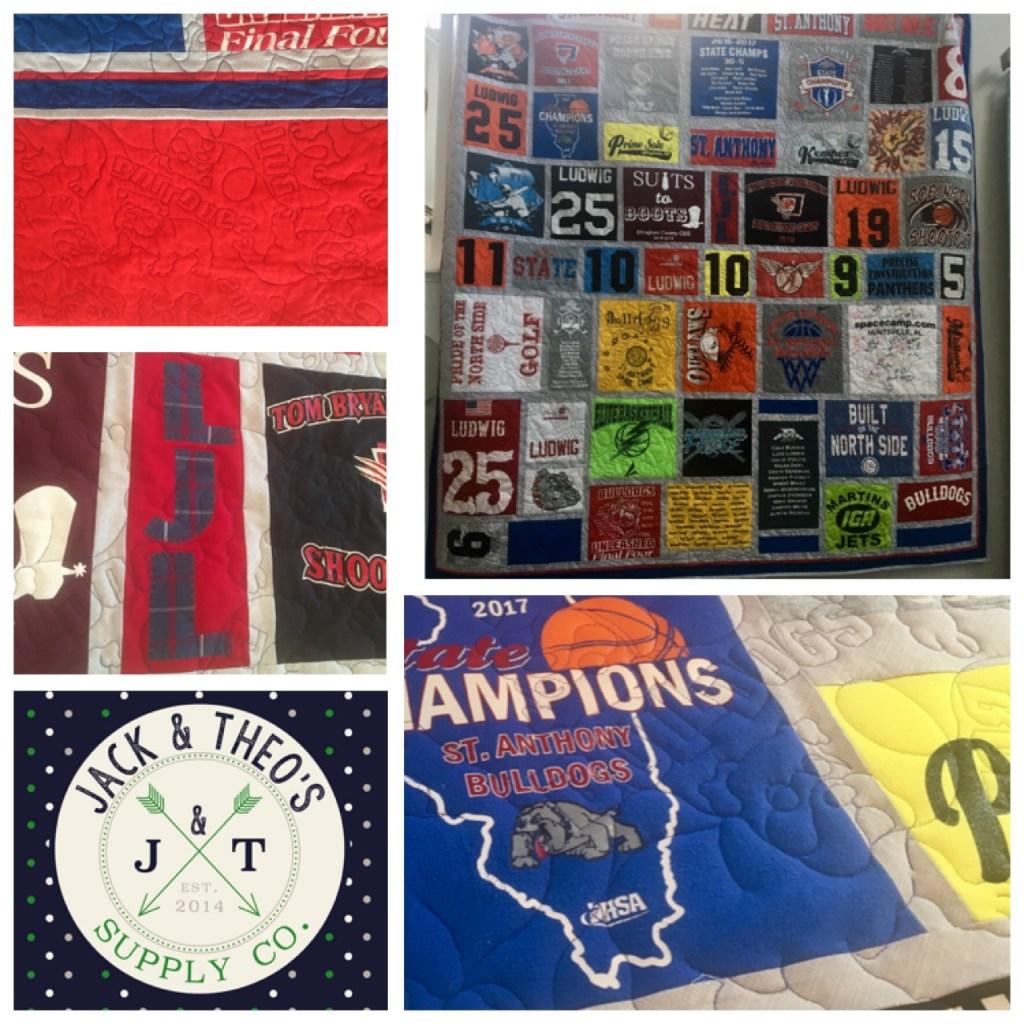 Luke's Senior Grad T-Shirt Quilt - St. Anthony High School