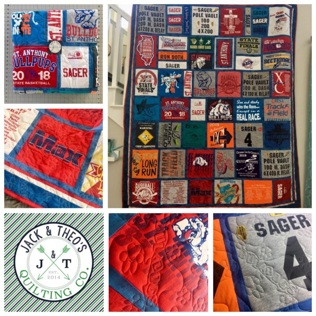 Max's 8th Grade Grad T-shirt Quilt - St. Anthony Grade School