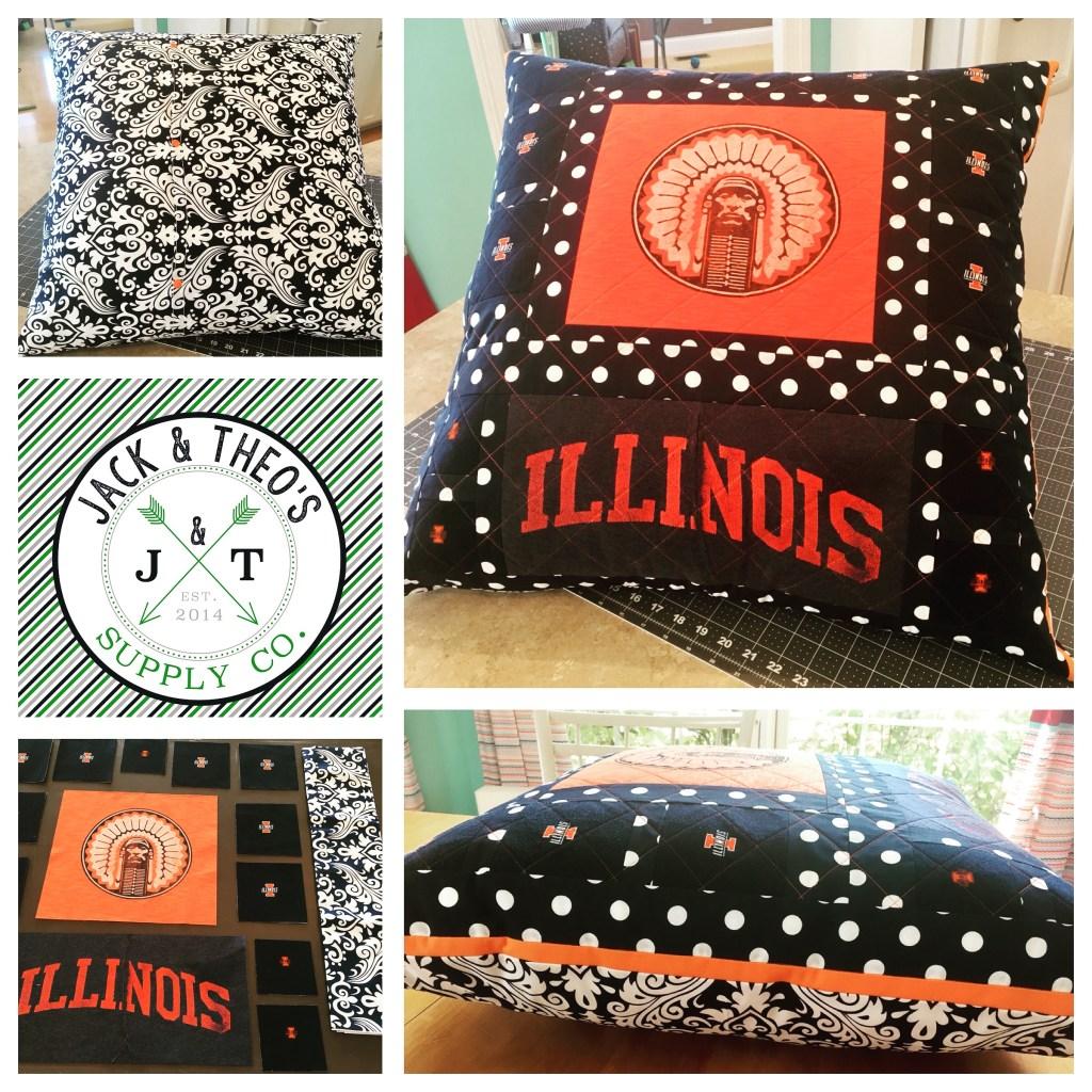 Memory Pillow Sham - Illini Shirts