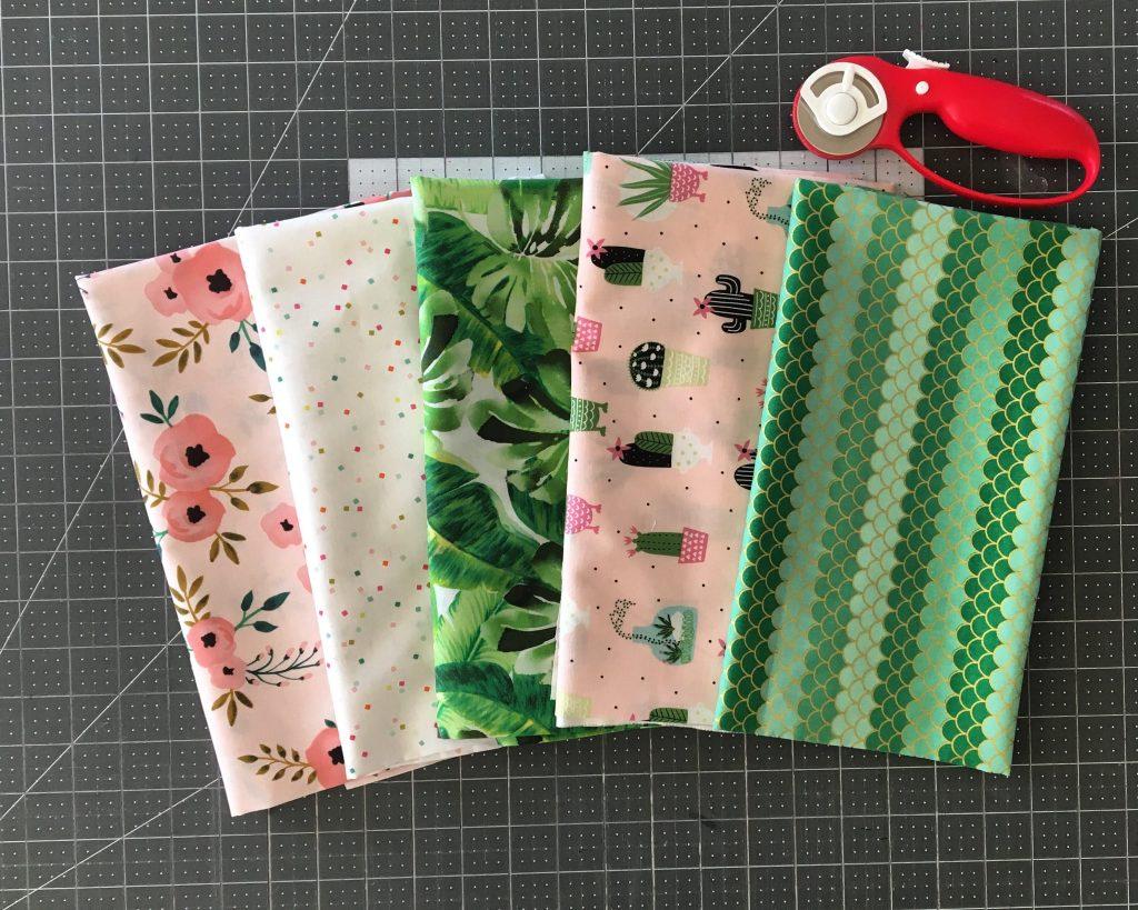 Pink Cactus fabric bundle