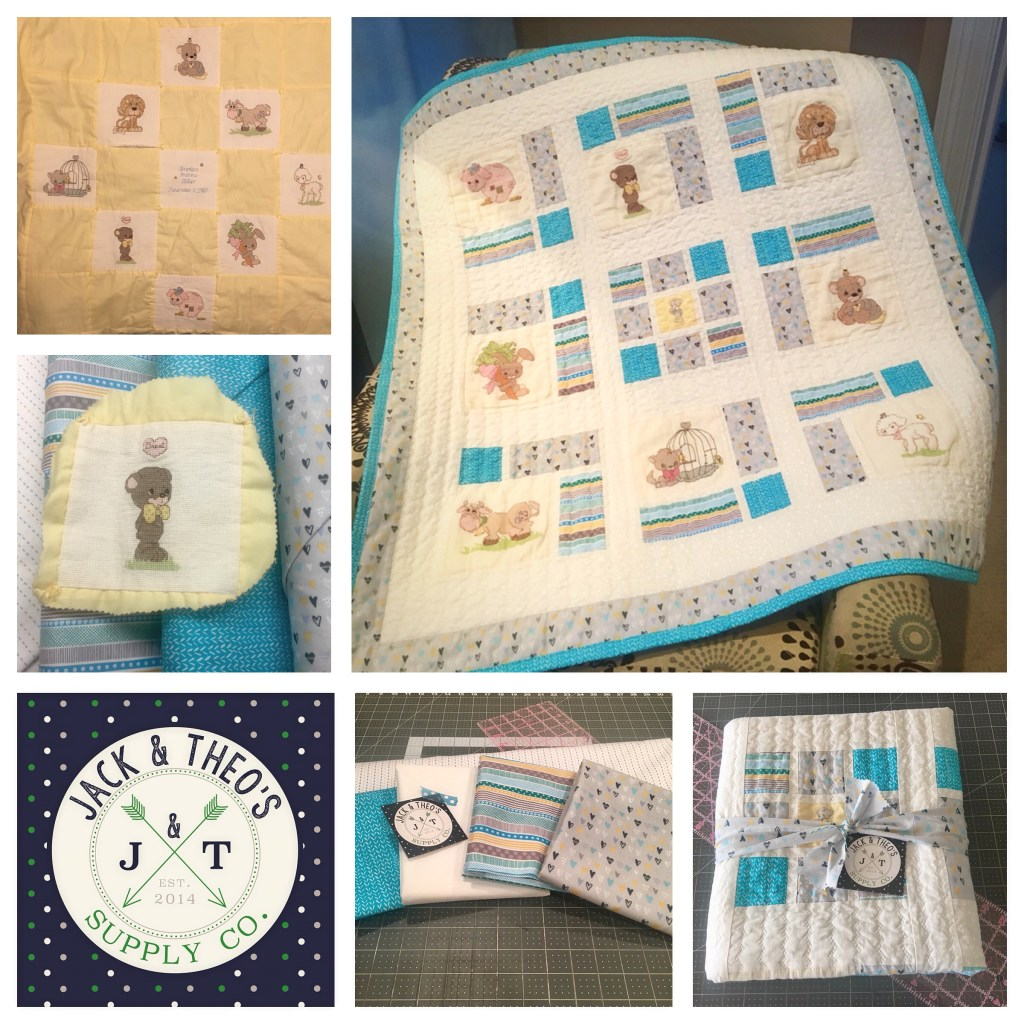 Precious Moments Baby Quilt - Rework