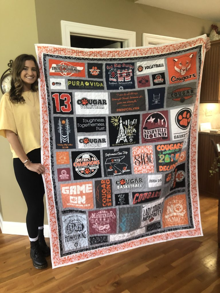 Saylor & her quilt