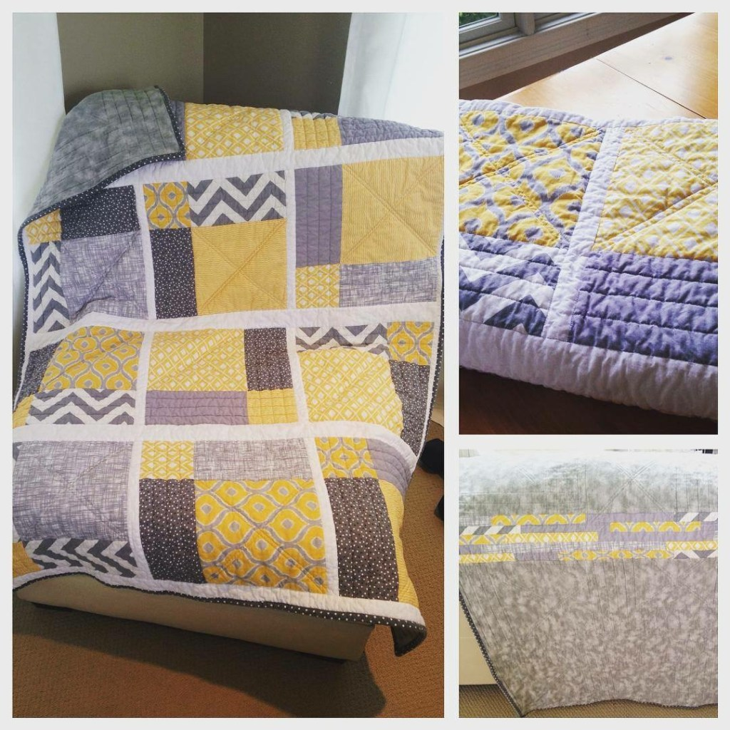 Summer Lemonade Throw Quilt