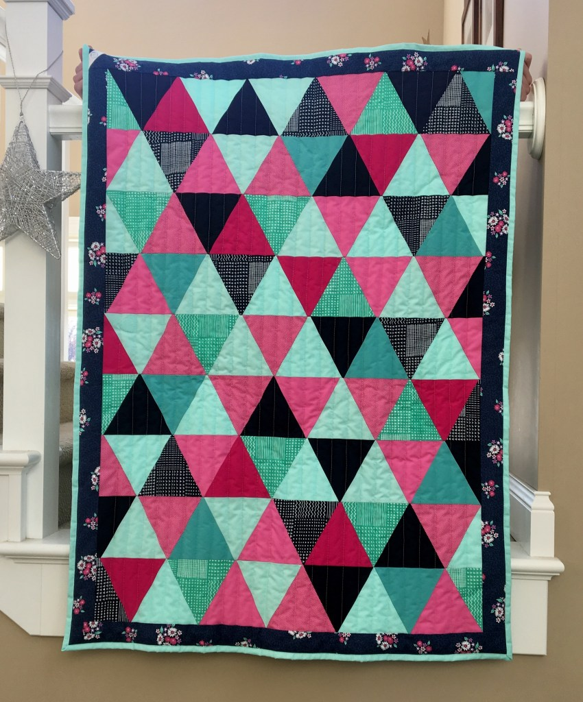 Triangles Bridesmaid Dresses -- Baby Quilt 2