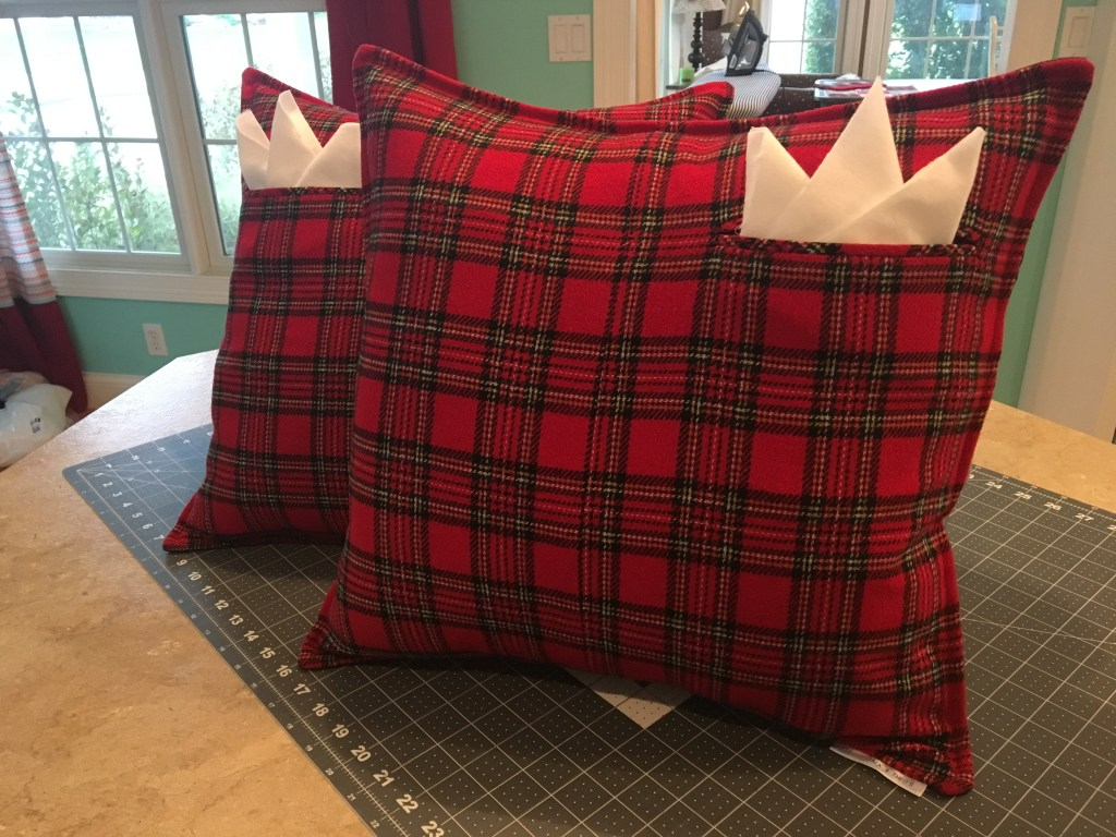Upcycled Dress Plaid Pillow Shams