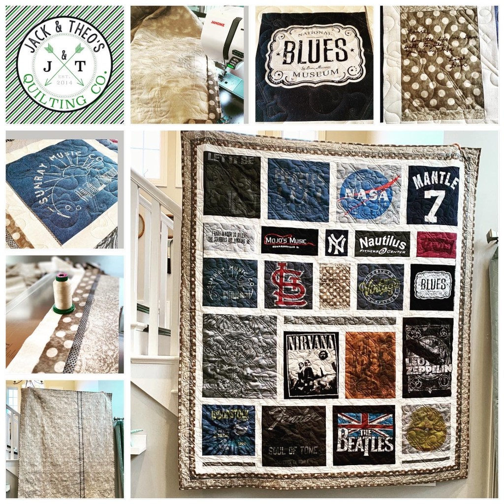 T-Shirt Memory Quilt - Custom Embroidery