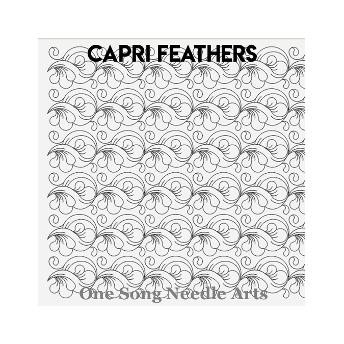 Capri Feathers - One Song Needle Arts